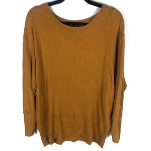 Express mustard yellow l/s too large cozy